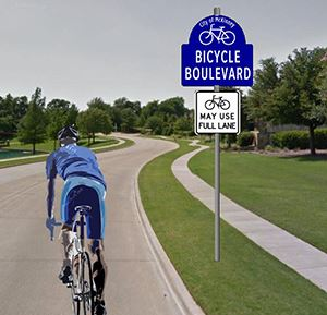 McKinney Bicycle Boulevard Rendering