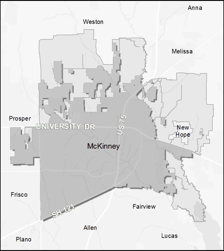 Annexations McKinney TX Official Website - Mckinney texas us map