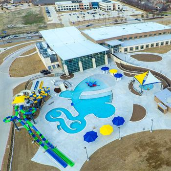 Outdoor Pool Area Aerial