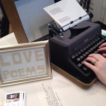 Love poems and typewriter