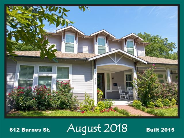 Historic Home Recognition - August 2018 - 612 Barnes St.