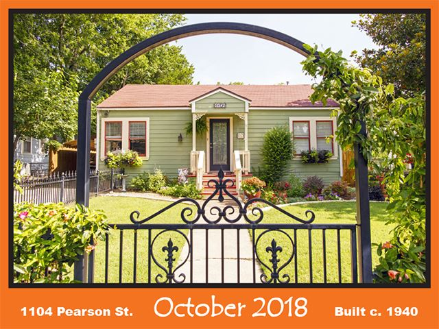 Historic Home Recognition - October 2018  - 1104 Pearson St.