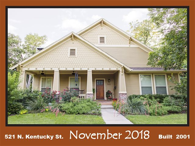 Historic Home Recognition - November 2018 - 521 N. Kentucky St.