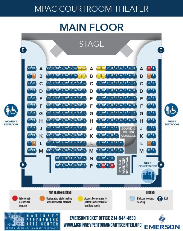 MPAC Seating Chart - Main Floor