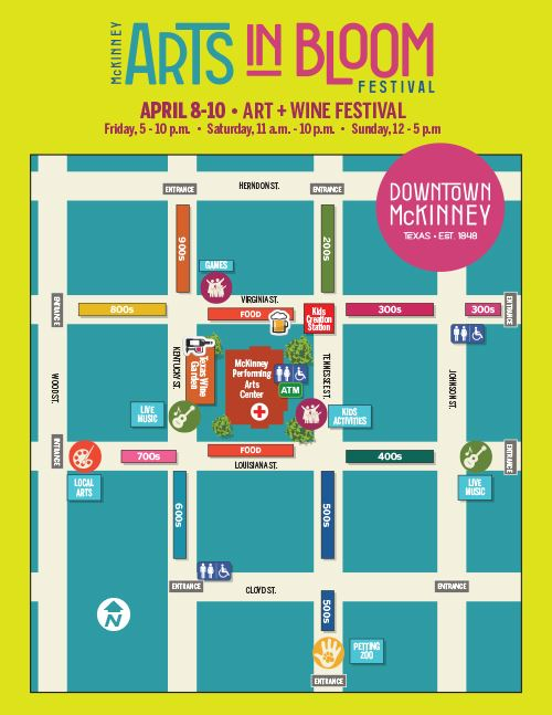 Arts in Bloom Map