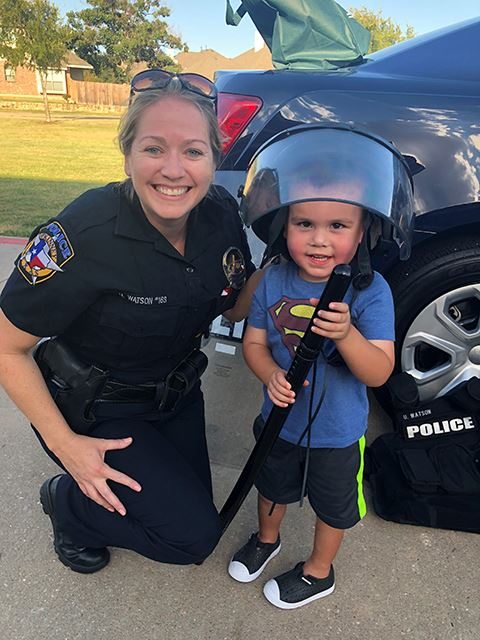 National Night Out - youngest officer