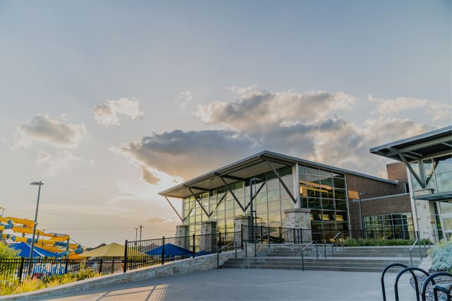 Apex Centre at sunset