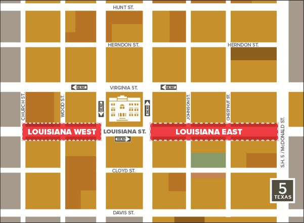 Light up Louisiana Construction Map
