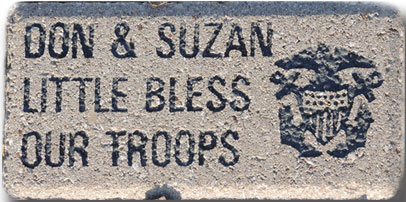 "Salute Level Paver 4"" x 6"", 3 lines of text, 1 service emblem"