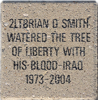 "Veteran Level Paver, 8"" x 8"", 6 lines of text"