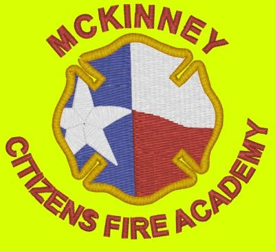 City of Mckinney - Fire red font embroidery