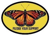 Pledge your support butterfly button