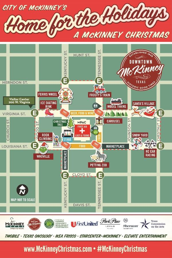 Home for the Holidays Map