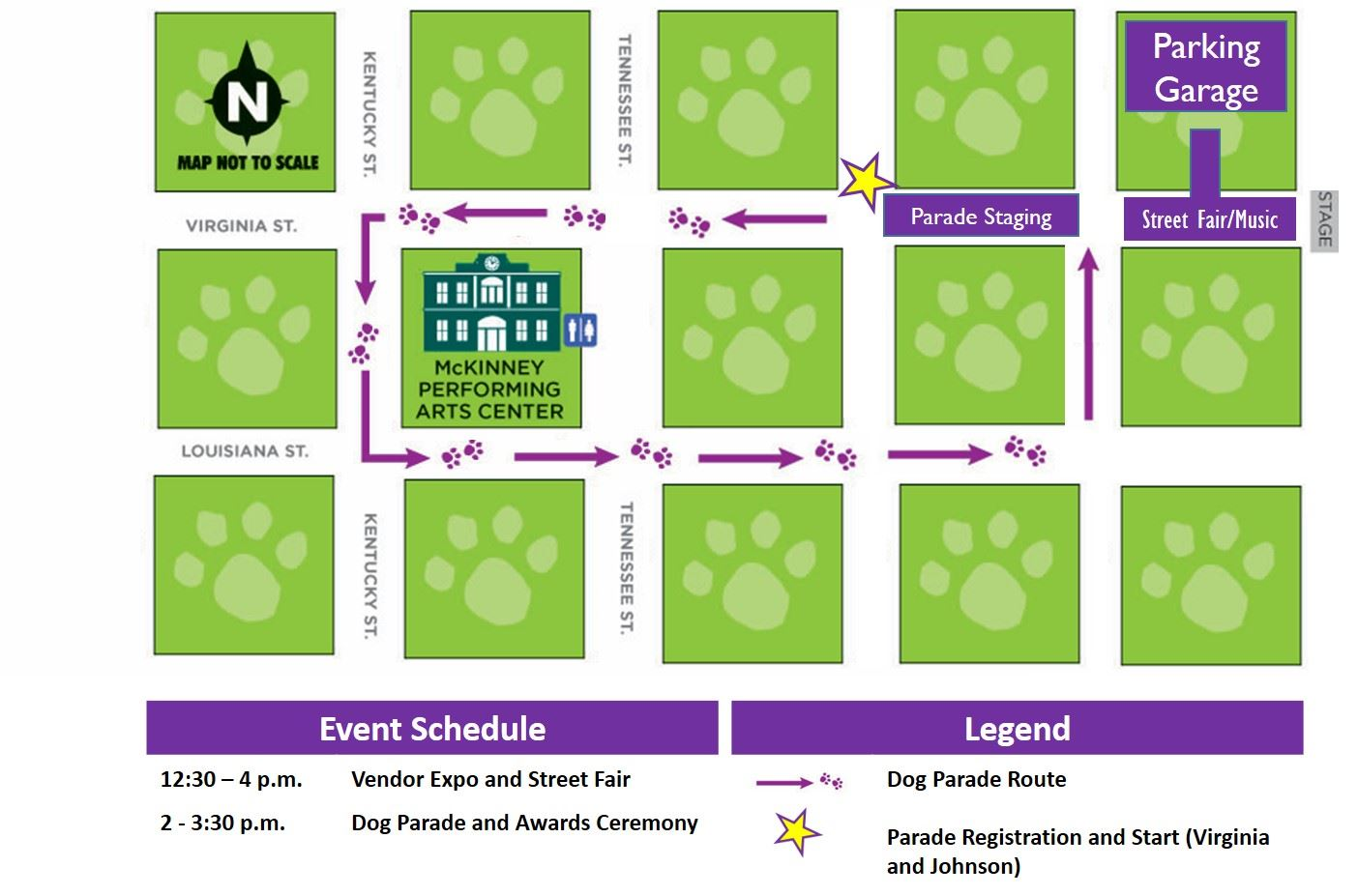 Krewe of Barkus Map