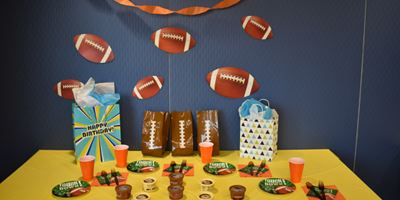 All-Star Sports Theme Staged with Football Decor Opens in new window