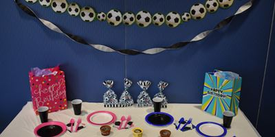 All-star Sports Theme Staged with Soccer Decor Opens in new window