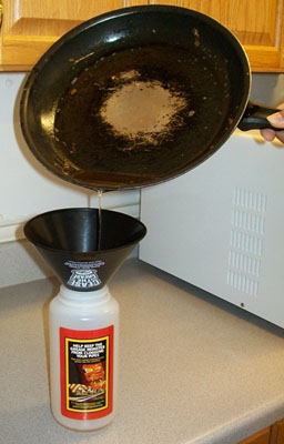 Put Cooking Oil in a Bottle