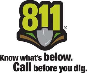 811 Logo - Know what's below. Call before you dig.