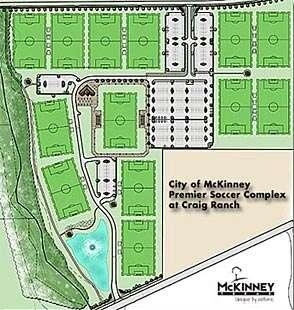 Craig Ranch Soccer Field Map Soccer Fields | McKinney, TX   Official Website
